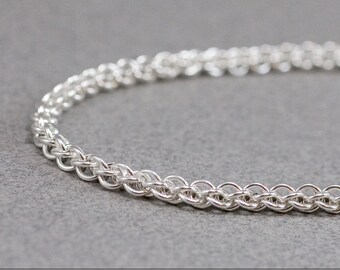 Delicate Sterling Bracelet 20g Jens Pind Handmade Rope like Chainmaille
