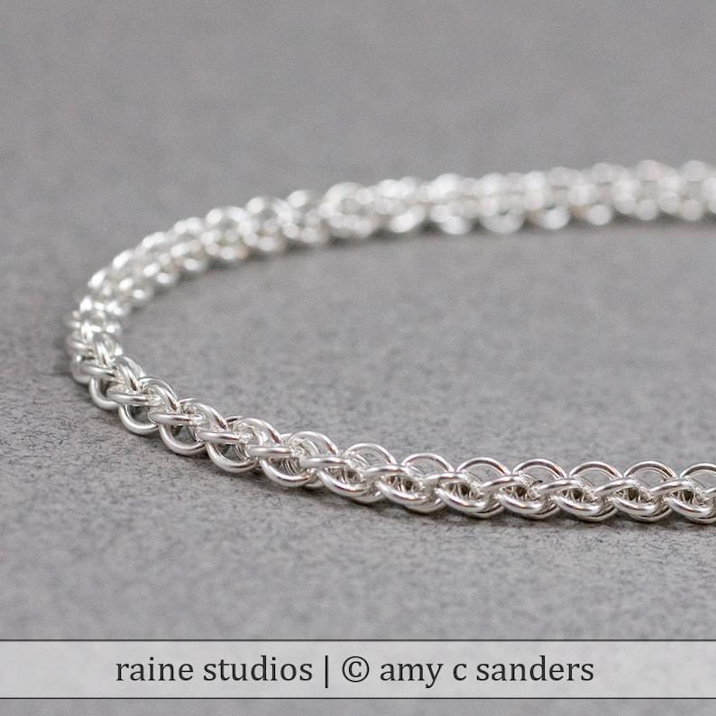 Delicate Sterling Bracelet 20g Jens Pind Handmade Rope like image 0