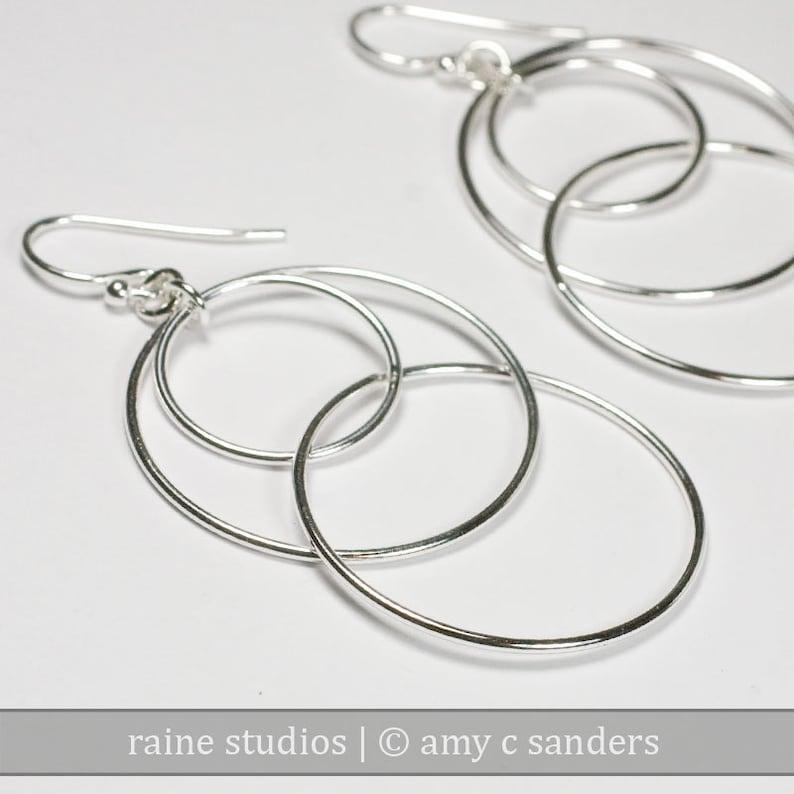 Small Orbital Hooptastic Hoop Sterling Silver Earrings image 0
