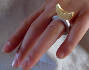 royal-shaped sterling-silver rings - hand carved