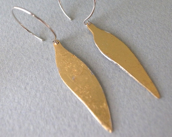 gold dangle earrings - shape 12