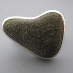 beach rock ring - sterling silver