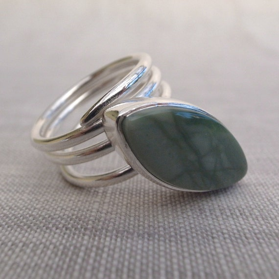 leaf ring - imperial jasper