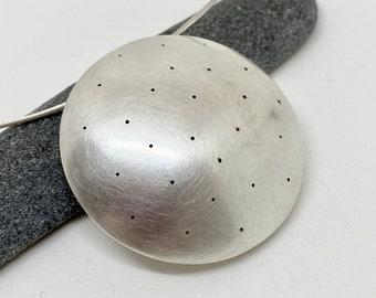 round polka dot pendant