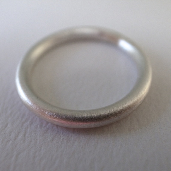 silver stacking band - 10 gauge - fine silver