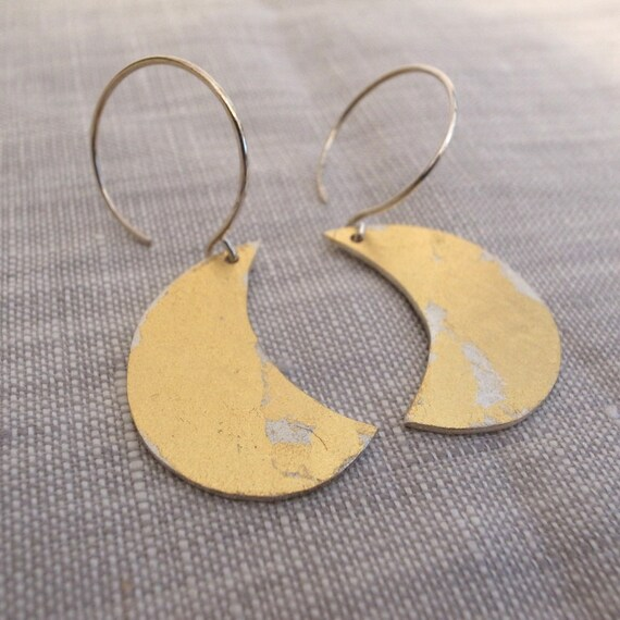 gold dangle earrings - shape 16 - new shape