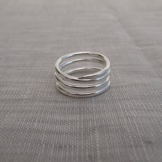 coiled silver band - 12 gauge