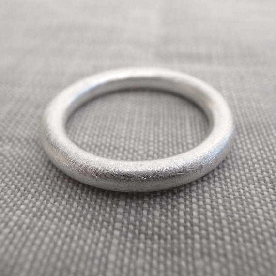 silver stacking band - 8 gauge - fine silver