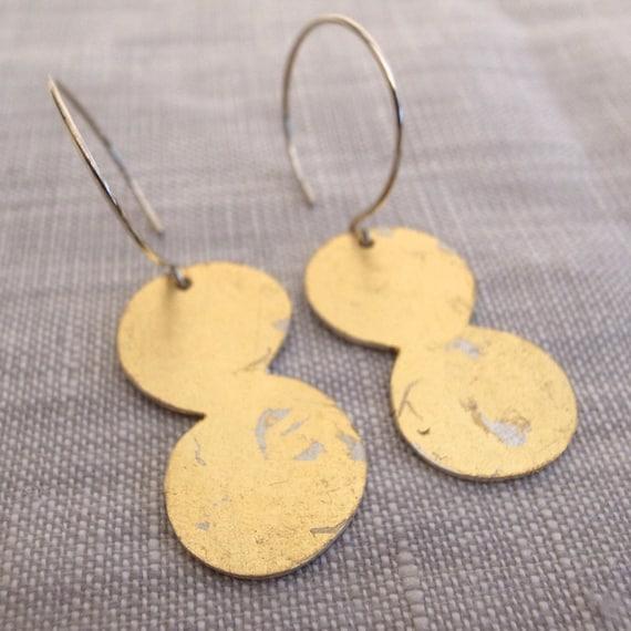 gold dangle earrings - shape 11