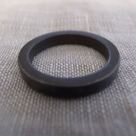 black stacking band - 3mm square