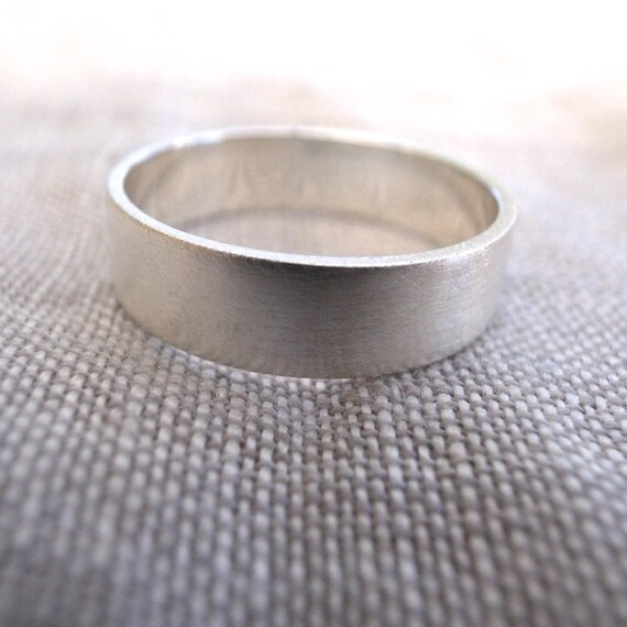 silver rectangular band - 5mm x 1mm