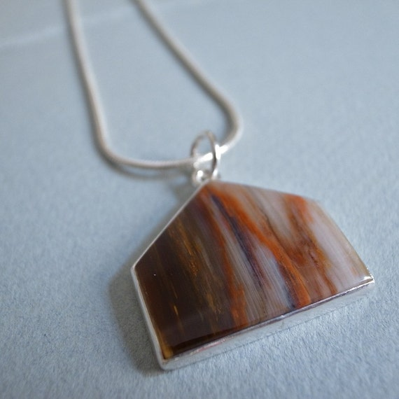 house pendant - petrified wood