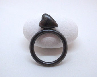heart stack ring - straight up