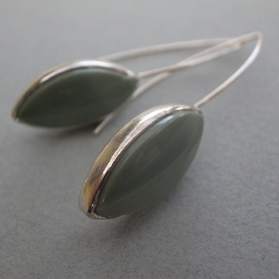 imperial jasper earrings - sterling silver