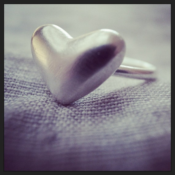 heart stack ring - 12 gauge