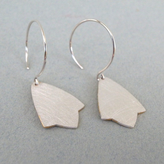 silver dangle earrings - shape 14