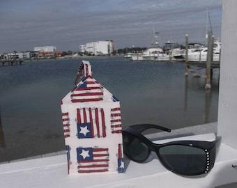 Old American Flag Luggage Tag