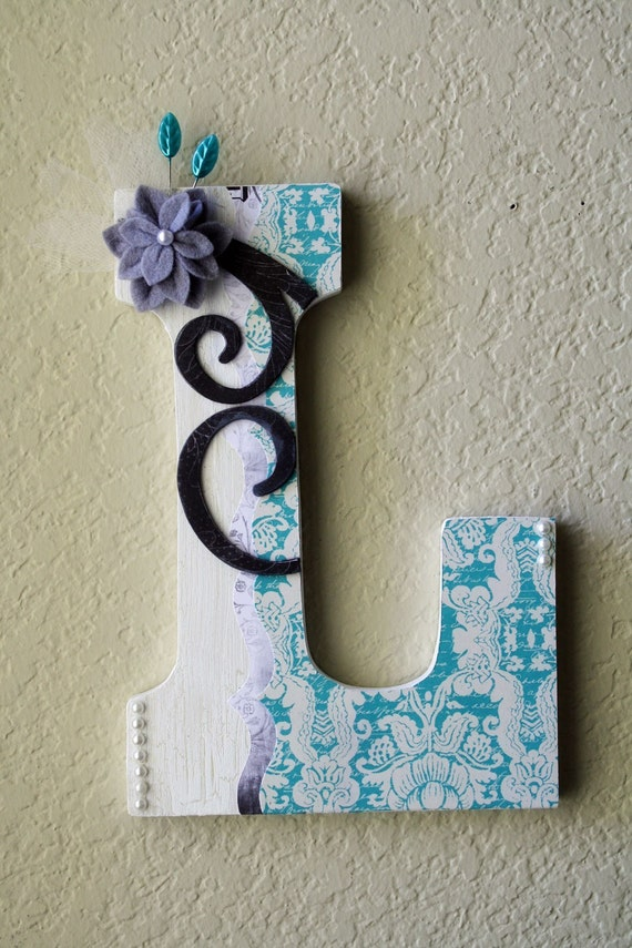 Items Similar To Large Boutique Wall Letter Monogram On Etsy