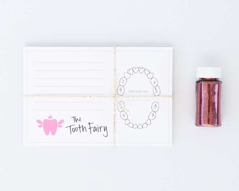 Tooth Fairy Kit Tooth Fairy Stationery Made in the USA SP001 Pink