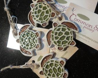 Set Of 4 Sea Turtle Gift Tag / Ornaments