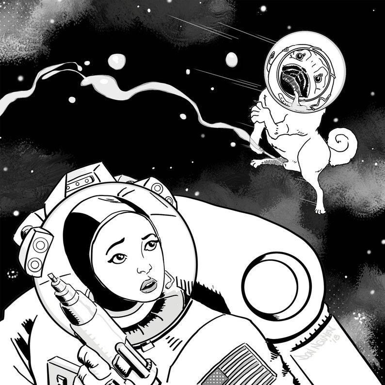 The Adventures of Jupiter the Space Pug mini-comic Convention image 0