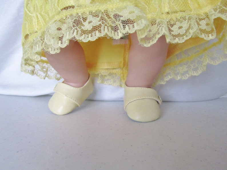 2c53db42f948e Yellow dress shoes to fit dolls like American Girl, Bitty Baby, Bitty Twin,  Springfield Doll, etc.