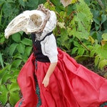 Krolik Rogue Taxidermy Rabbit Skull Folk Art Doll