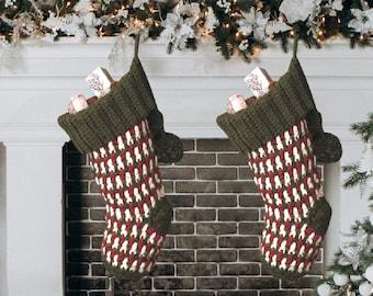 Crochet Christmas Stocking Pattern - Crochet Pattern - Crochet Brighton Christmas Stocking - Instant Download Pattern - Crochet Video