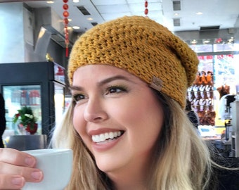 Crochet Slouchy Hat PATTERN Voyager Slouchy Crochet Hat Pattern Baby to Adult Sizes Crochet Hat Pattern Easy Crochet Pattern Crochet Pattern