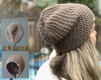 Crochet Slouchy Hat Pattern -  Voyager Slouchy Crochet Hat Pattern Baby to Adult Sizes - Crochet Hat Pattern Easy Crochet Pattern