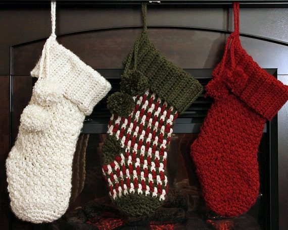 Crochet Pattern Brighton Christmas Stocking Crochet Christmas Etsy