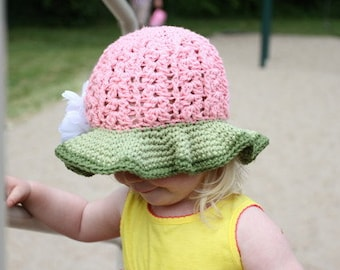 Crochet Sunhat Pattern - Crochet Logan Sunhat for Girls and Ladies
