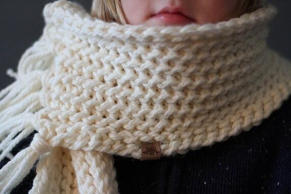 Crochet Scarf Pattern Everest Fringed Scarf Crochet Scarf Etsy