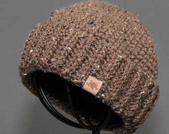 Crochet Beanie Hat PATTERN Fishermans Cap Mens Crochet Hat Pattern Includes Sizes Newborn to Adult