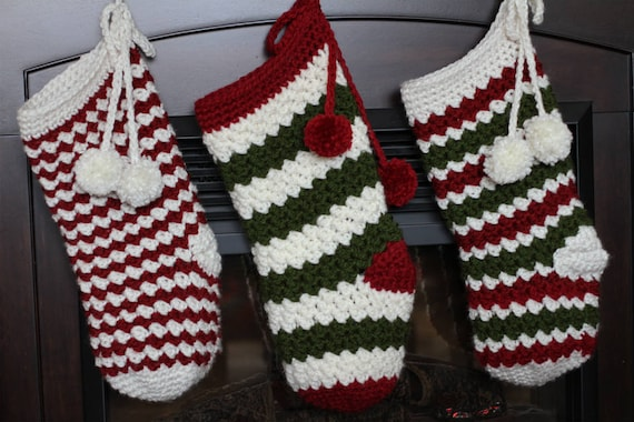 Crochet Christmas Stocking Pattern Rainer Christmas Stocking Etsy