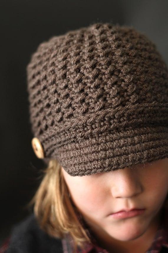 Crochet Pattern Brookside Newsboy Cap Crochet Newsboy Hat Etsy