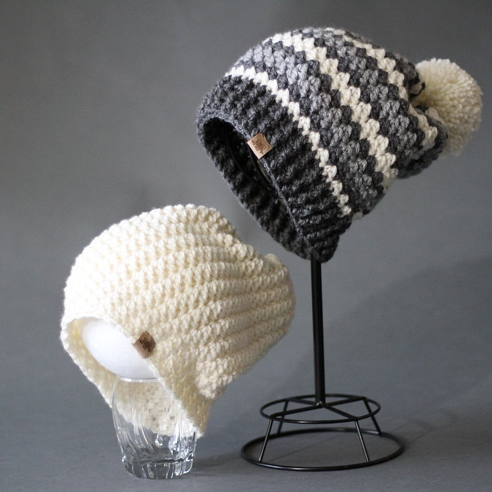 Crochet Pattern Rainer Crochet Slouchy Hat Pattern Striped Etsy