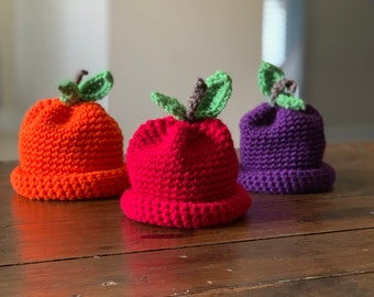 Crochet Pumpkin Hat Pattern With Video Tutorial Baby, Toddler, Child and Adult Sizes Included in Pumpkin Pattern