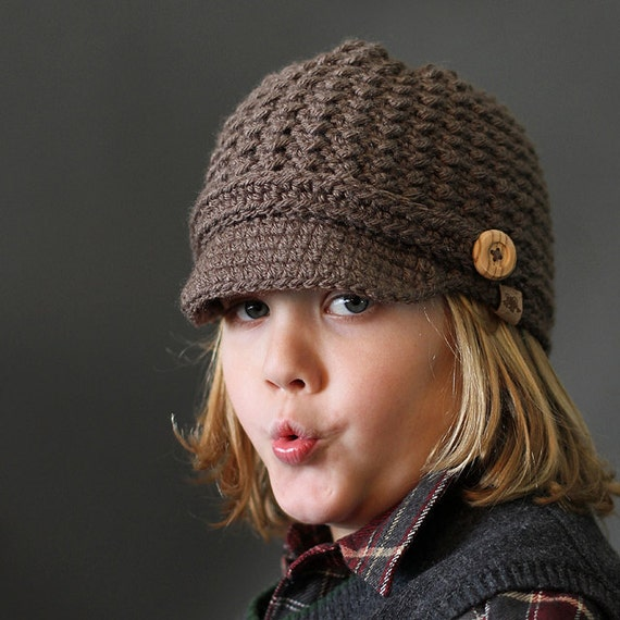 Crochet PATTERN Brookside Newsboy Cap Crochet Newsboy Pattern  bad7c545b1e