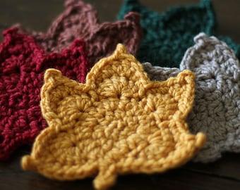 CROCHET LEAF PATTERN - Crochet Maple Leaf Pattern Includes link to video tutorial in listing- Free Crochet Pattern