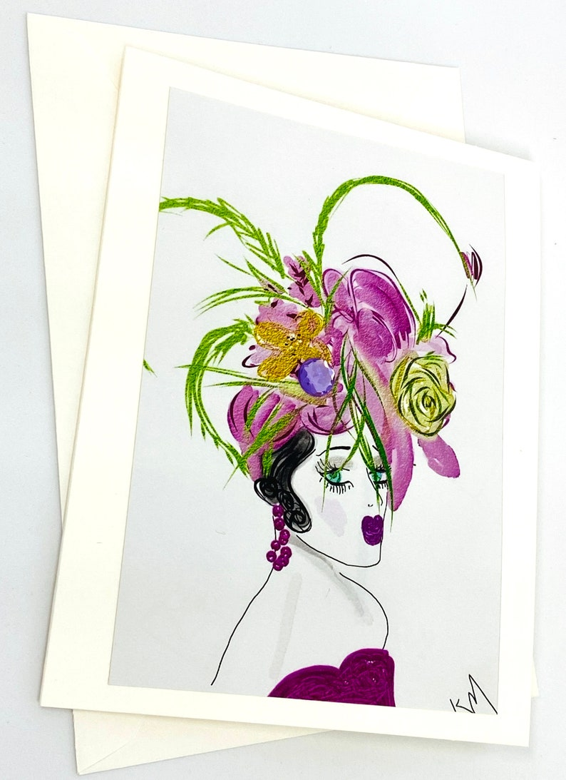 FASHION GREETING CARDS Ky Derby Hat