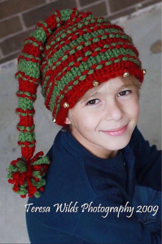 Knit christmas hat knitted christmas hat knitting pattern | Etsy