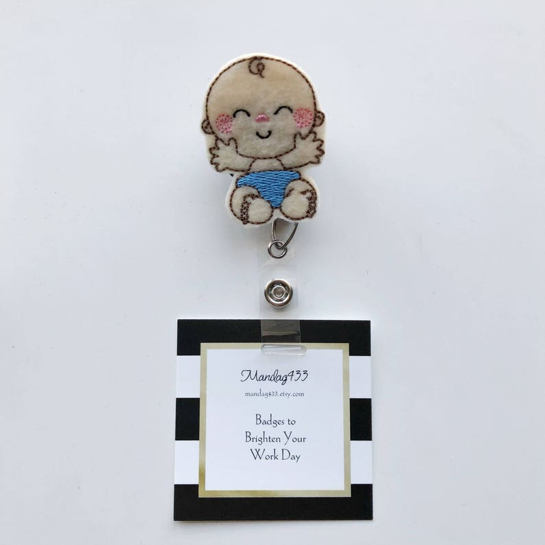 Badge Holder Name Badge Doctor id Tag Maternity Nurse Nurses id tag nurse gift baby badge reel Nurse Badge Reel badge reel nurse