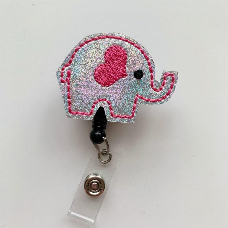 Cute Badge Reel Nursing Badge Reel Badge Holder Retractable Nurse ID Tag Elephant Badge Reel Badge Clip Nurse Badge Reel Badge reel