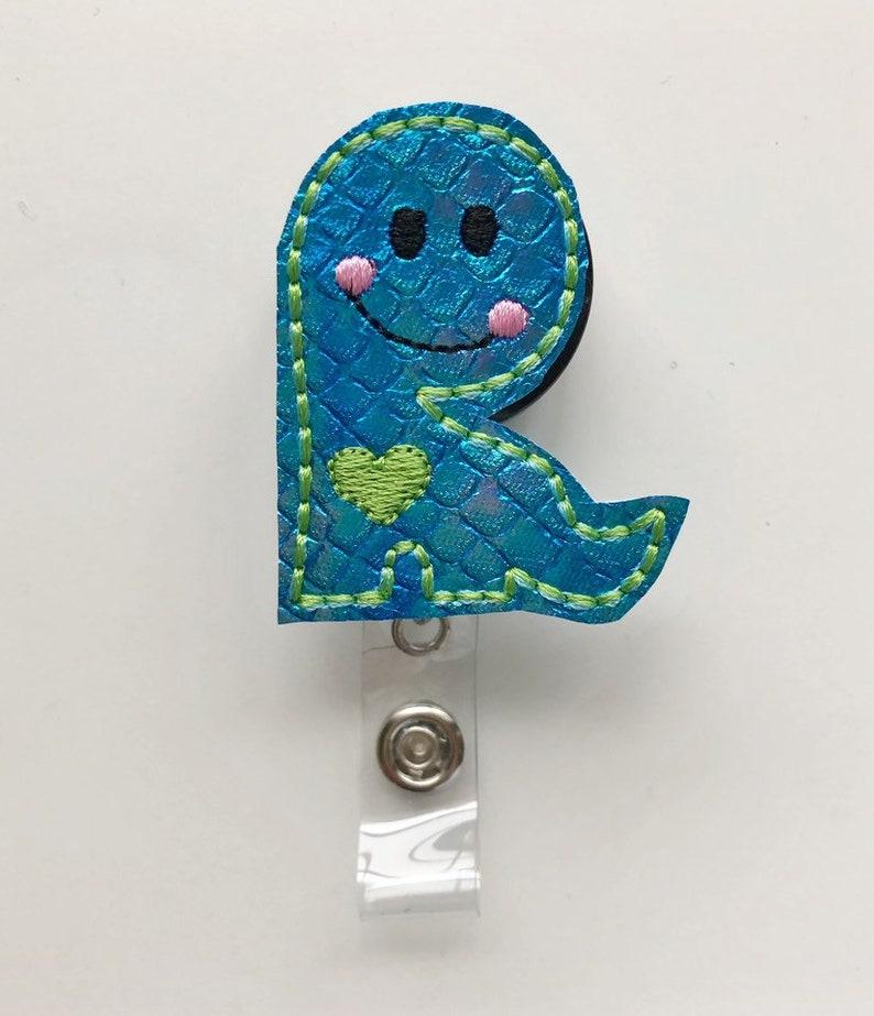 Dinosaur badge reel, nurse badge reel, cute badge reel, nursing badge reel,  badge reel, retractable badge, name badge holder, badge clip
