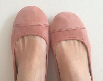 LUNAR- Ballet Flats-Suede Shoe- Blush Suede. Size 39