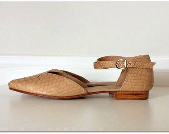 LOLA- Sandal - Latte python skin shoes - 39-available in different colours