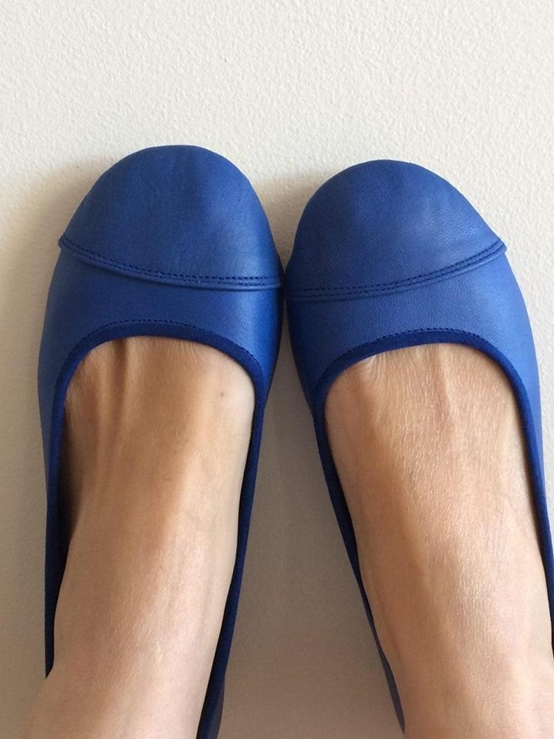 0111fe8cfea LUNAR. Cobalt Blue flats   women shoes   leather flat shoes