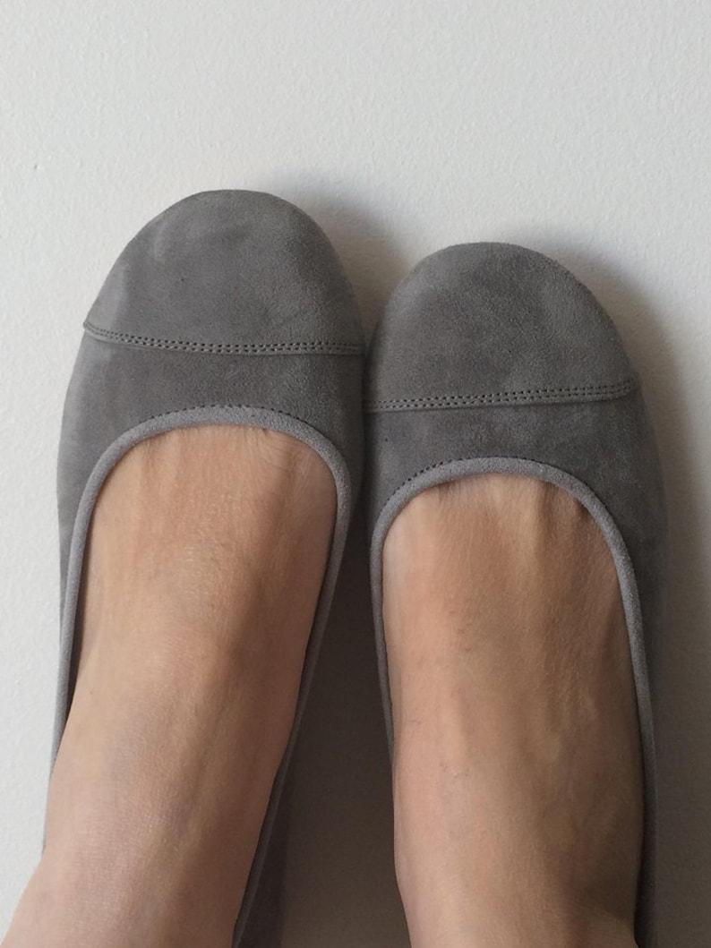 e287e128bcbd1 LUNAR. Grey flats / women shoes / suede flat shoes / women flats / Mid grey  suede flats. Available in different colours