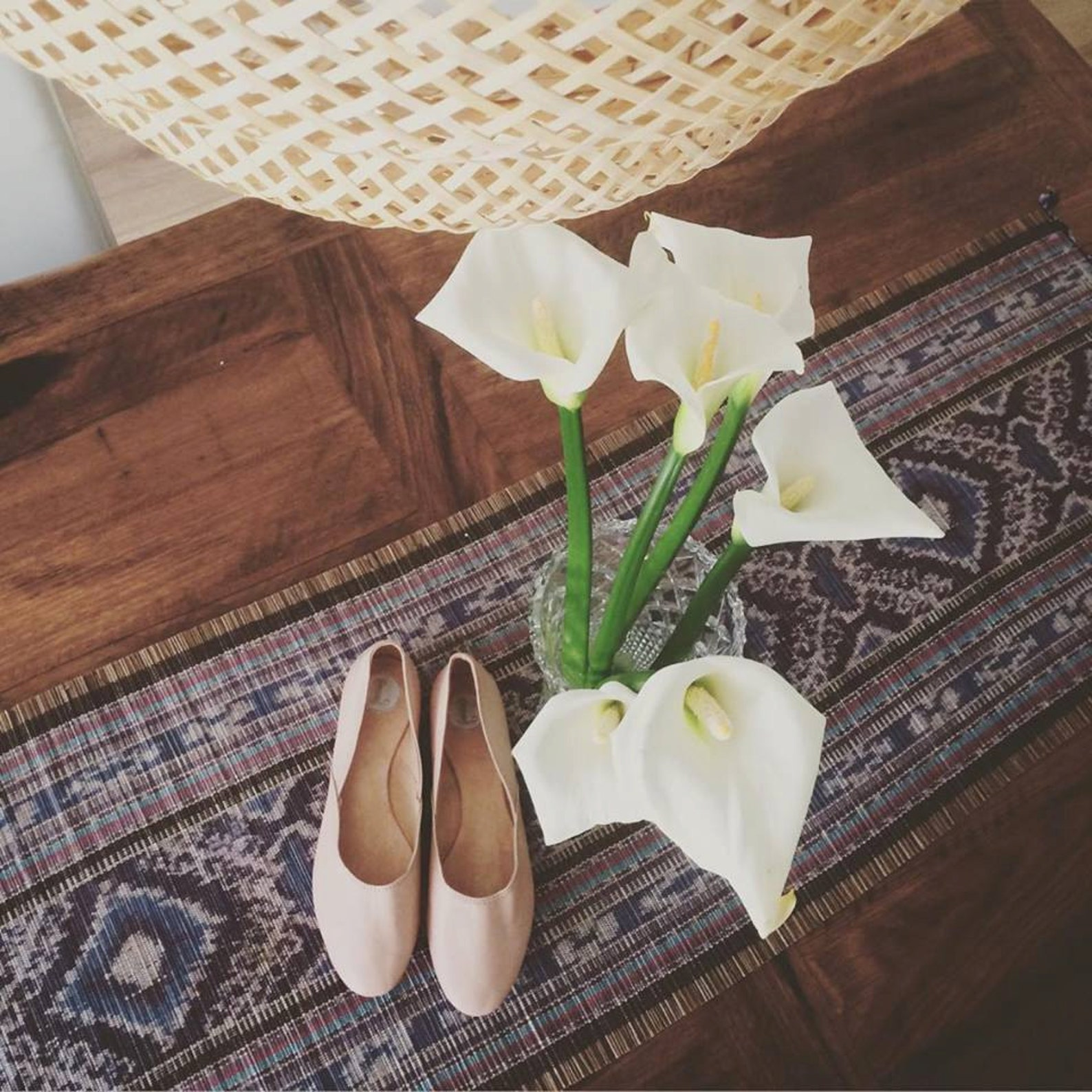 maya. nude leather/ ballet flats/ women's suede shoes/ wedding flats. available in different sizes see below